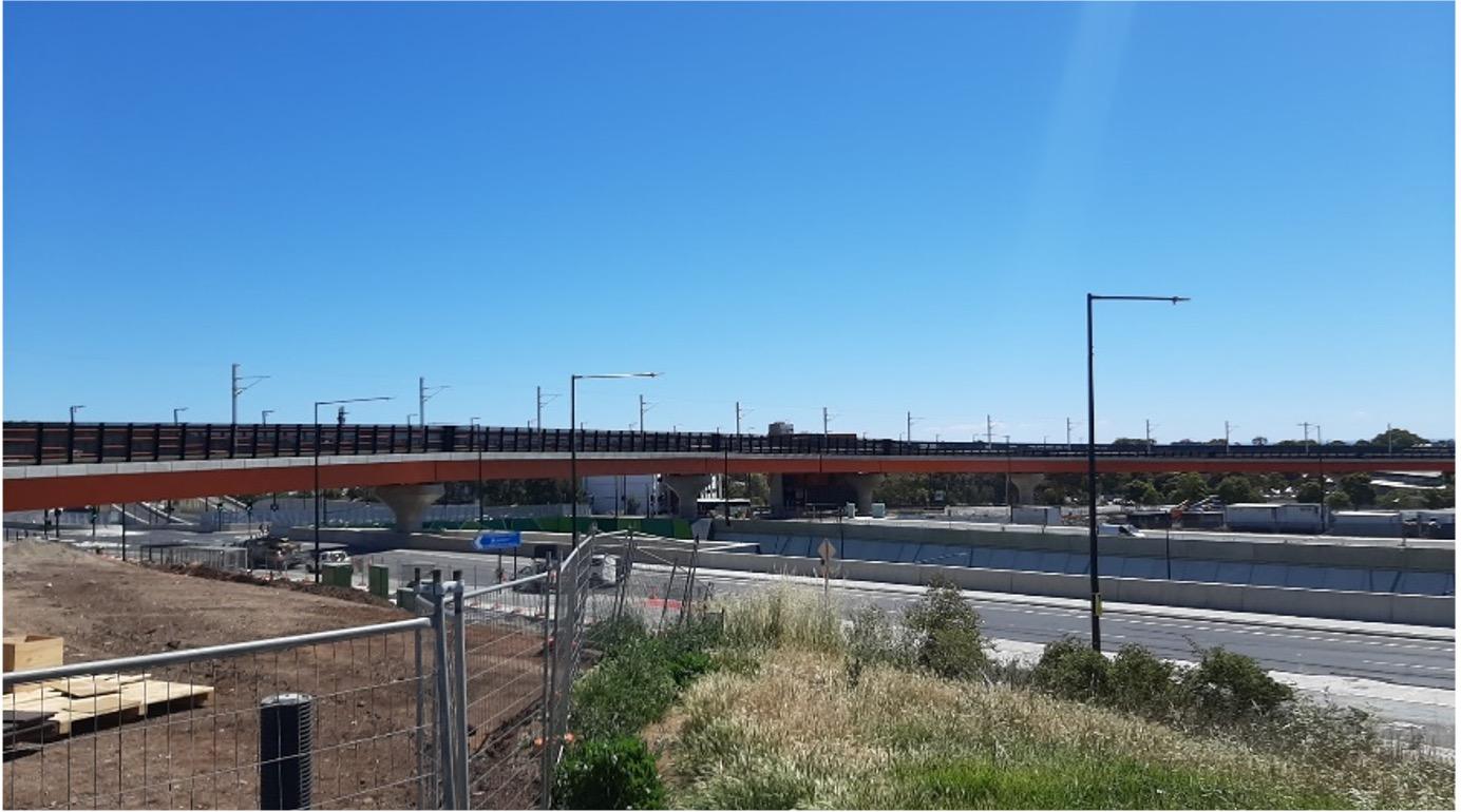 flinders link rail bridge